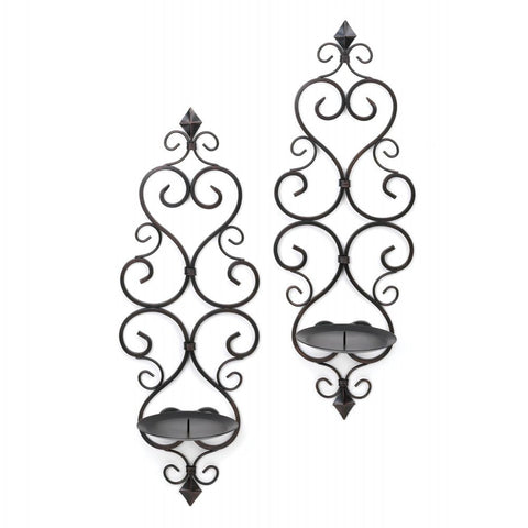Fleur De Lis Candle Wall Sconces - Set of 2