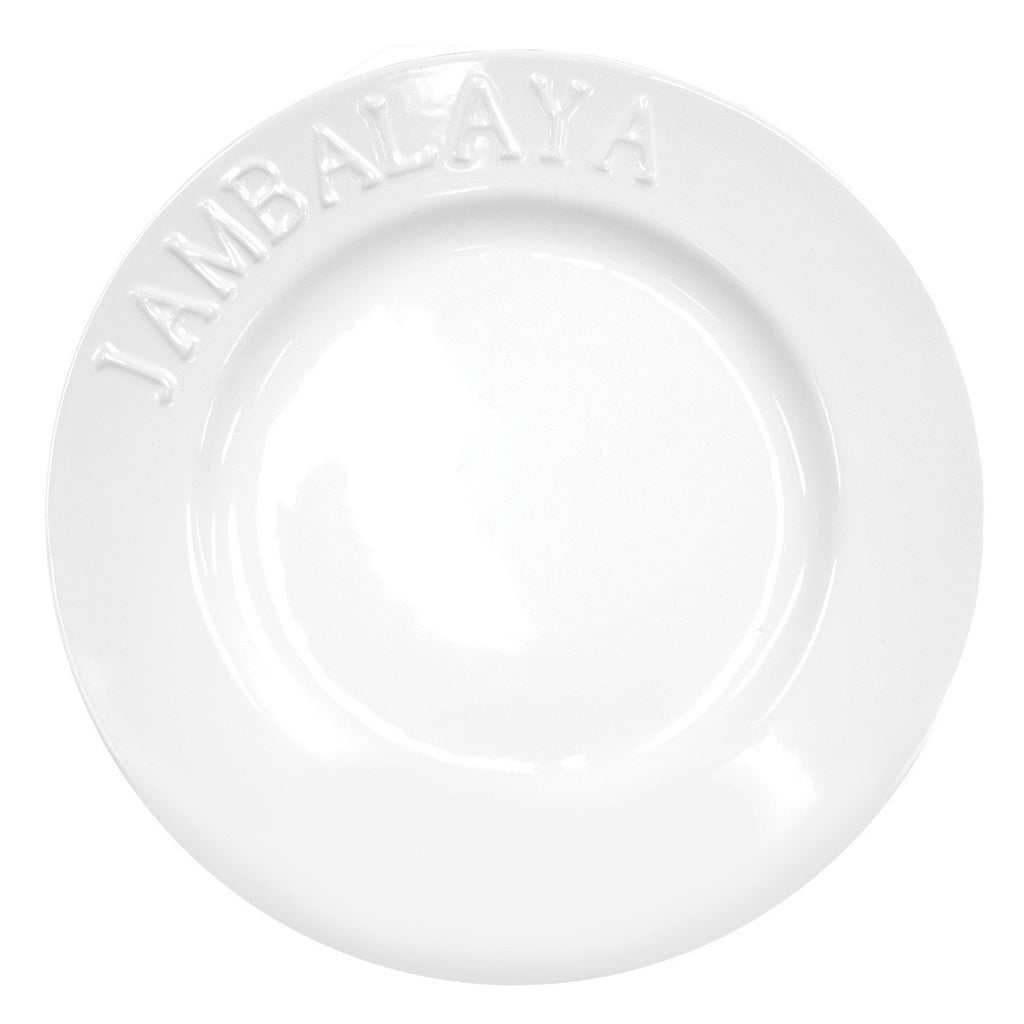 """Jambalaya"" Embossed Dinner Plates - Set of 4"