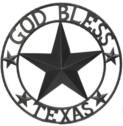 """GOD BLESS TEXAS"" Round Wall Plaque"