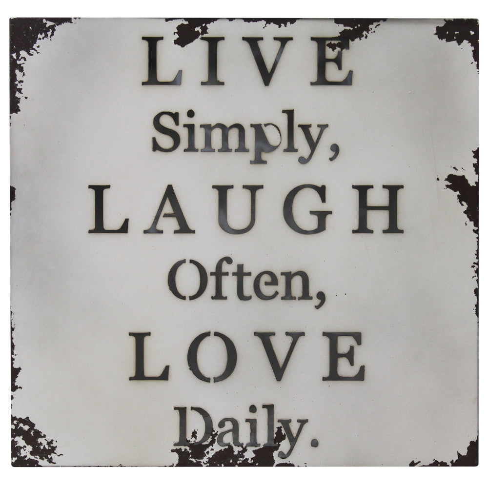 Live, Laugh, Love Metal Wall Plaque