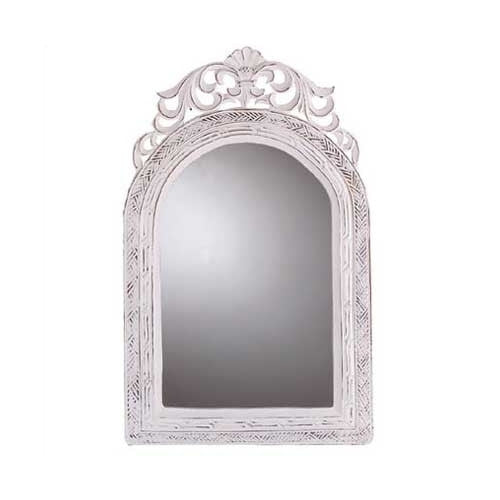 Fleur De Lis Arched-top Wall Mirror