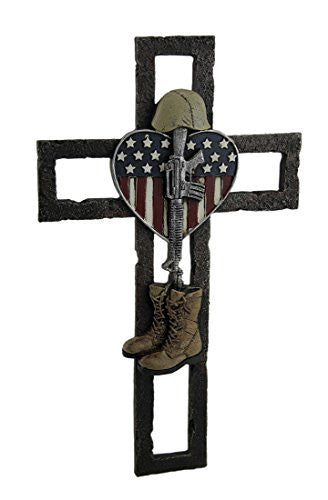 US Military Fallen Soldier Wall Cross