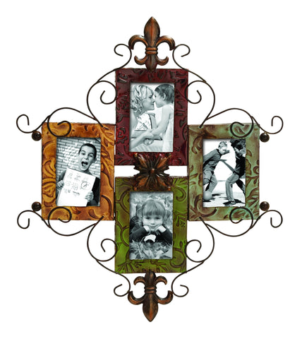 Fleur De Lis Deco 79 Metal Photo Frame Wall Plaque