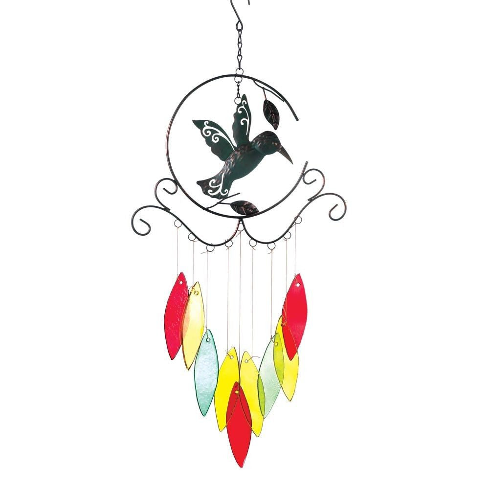 Hummingbird & Glass Windchimes