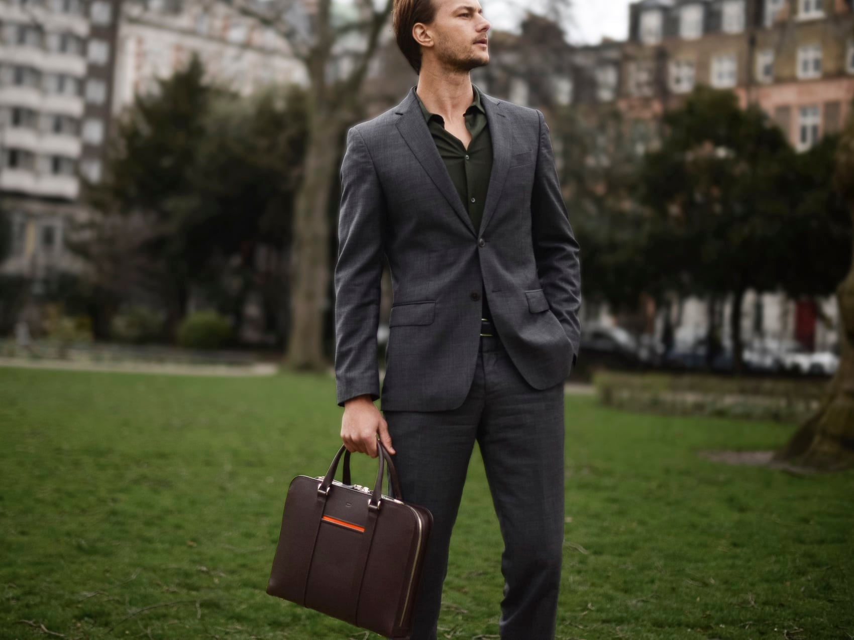 Leather Briefcase Palissy Briefcase
