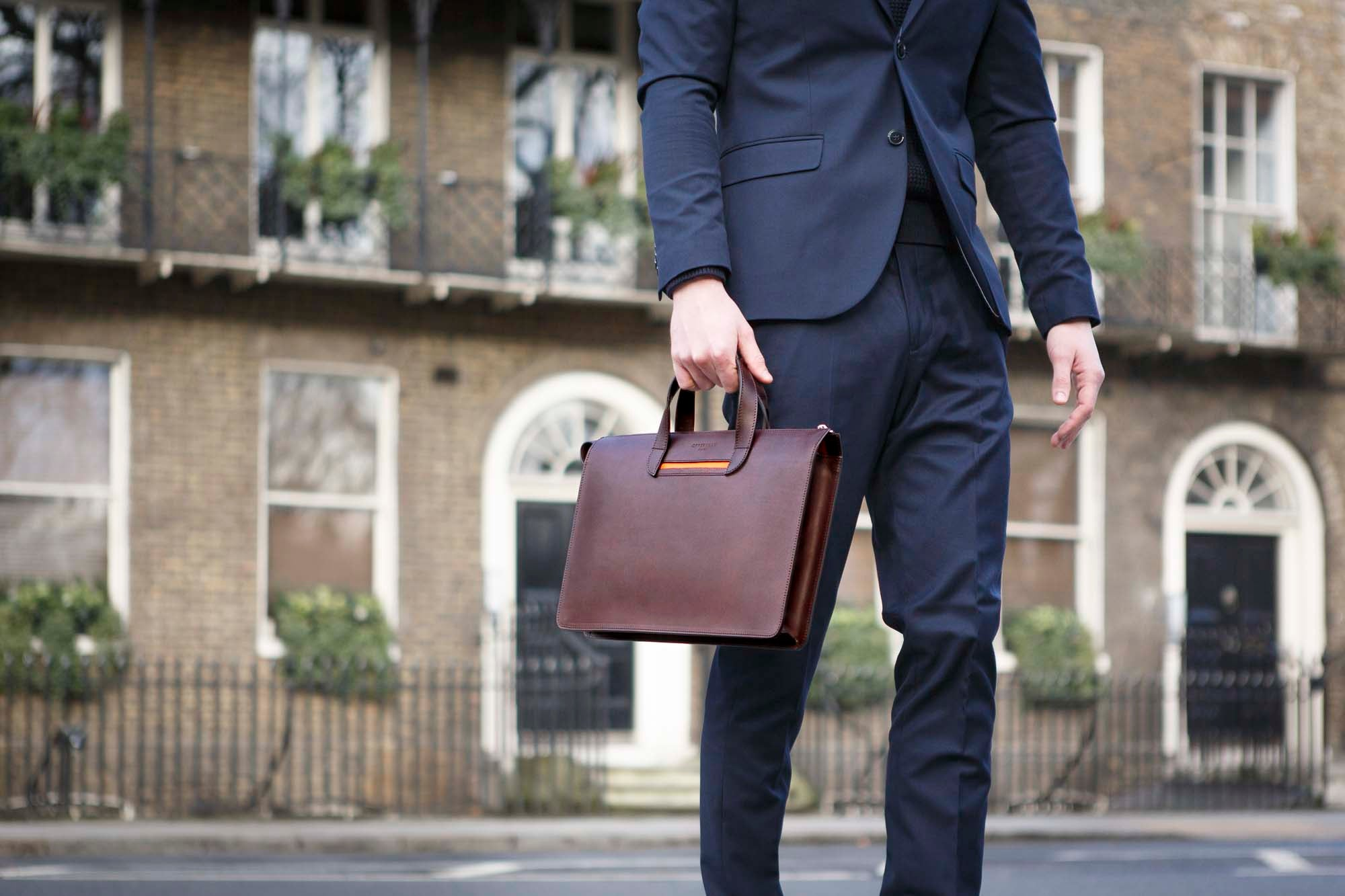 Leather Briefcase Vallance Oppermann London