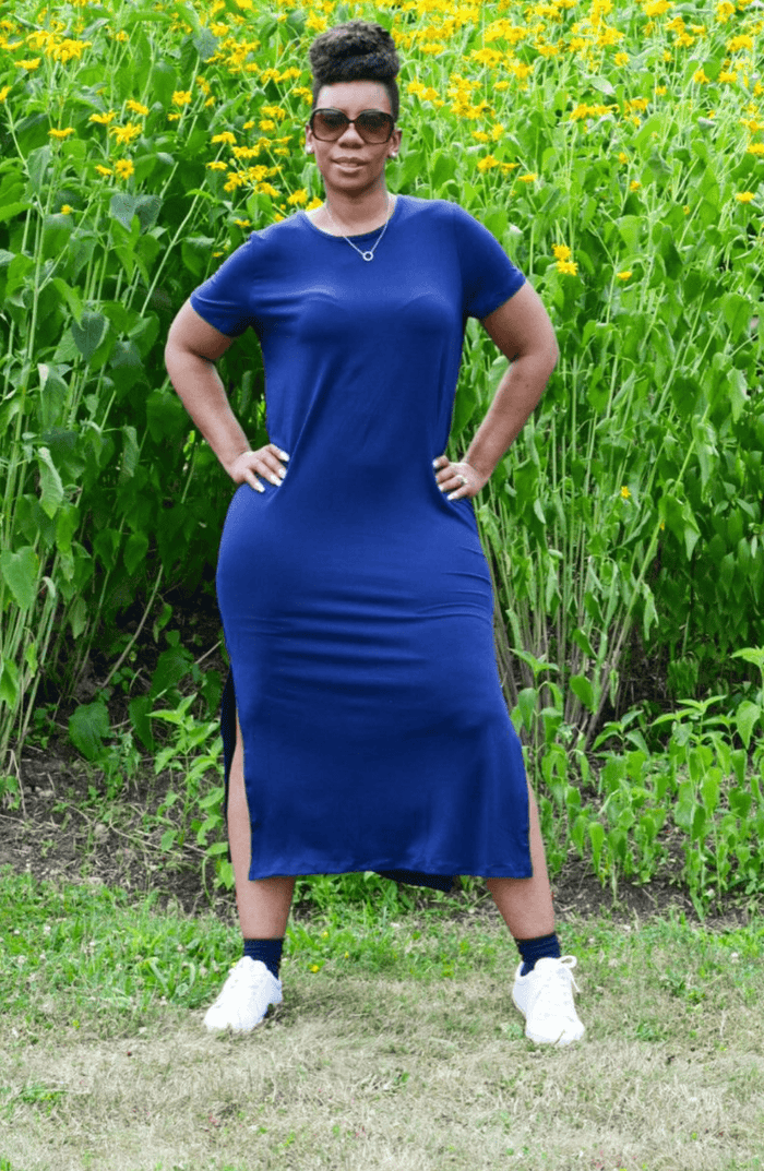 comfy navy blue dress