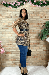 Leopard Animal Print Sheer Cardigan