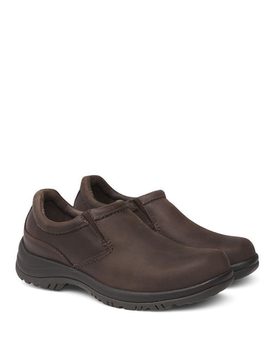 dansko men's brown slip on shoes