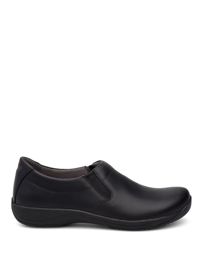 dansko black slip-on women's shoe
