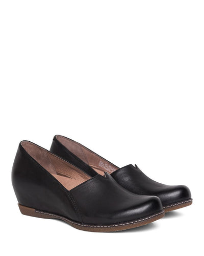 Dansko women's black leather loafer