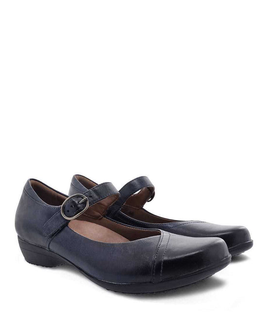 Dansko Fawna Navy Burnished Leather