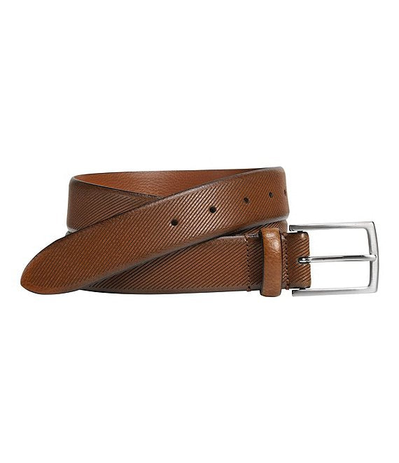 JOHNSTON&MURPHY Diagonal Embossed Belt