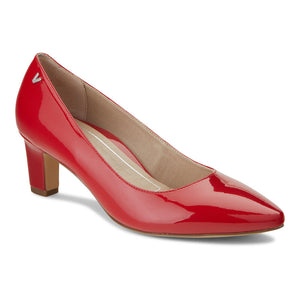 women's cherry patent dress heel shoe