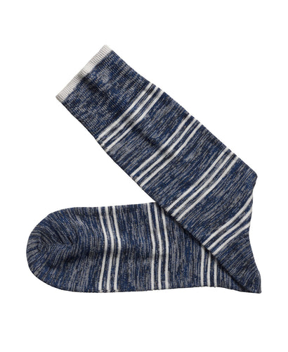 JOHNSTON&MURPHY Heather Stripe Socks