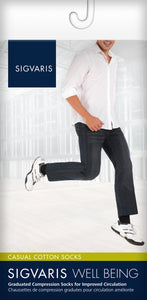 SIGVARIS Mens CASUAL COTTON 186 Calf 15 20mmHg