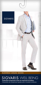 SIGVARIS Mens BUSINESS CASUAL 189 Calf 15 20mmHg