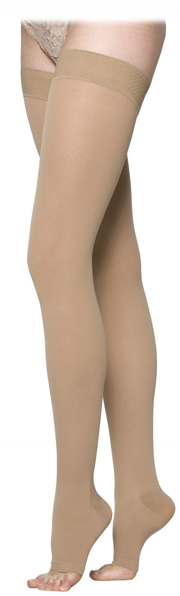 SIGVARIS COTTON 230 Open Toe Thigh High 20 30mmHg