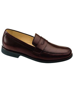 men's brown penny loafer