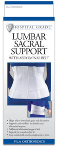 LUMBAR SACRAL SUPPORT W/ABDOMINAL BELT 10""