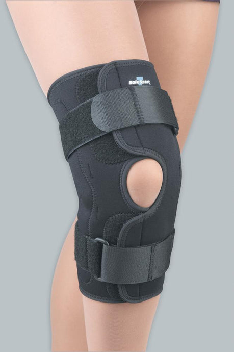 SAFE-T-SPORT WRAP-AROUND HINGED KNEE STABILIZING BRACE