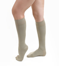 Salvere Business Ribbed, Dress/Trouser, Unisex Knee High Compression Sock, Closed Toe, 20-30 mmHg