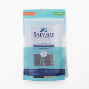 Salvere Women's Diamond, Knee High, Closed Toe, 15-20 mmHg