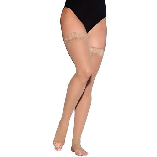 EverSheer | Thigh High Compression Stockings | Open Toe | 15-20 mmHg