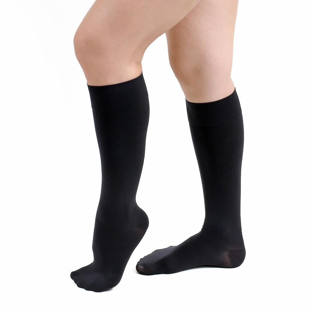knee high opaque compression stocking
