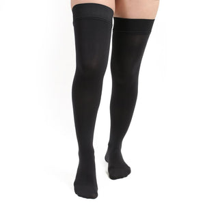 Salvere Opaque, Thigh High, Closed Toe, 15-20 mmHg