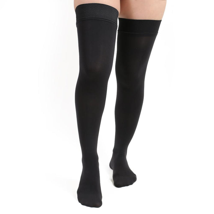 Salvere Opaque, Thigh High, Closed Toe, 20-30 mmHg