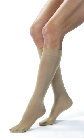 Opaque | Knee High Compression Stockings | Closed Toe | 30-40 mmHg