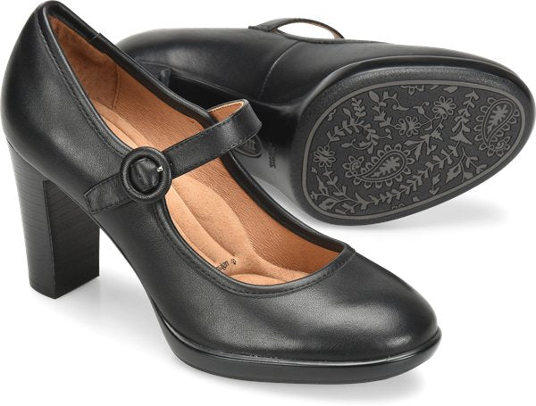 Sofft Natara Black Leather Women's