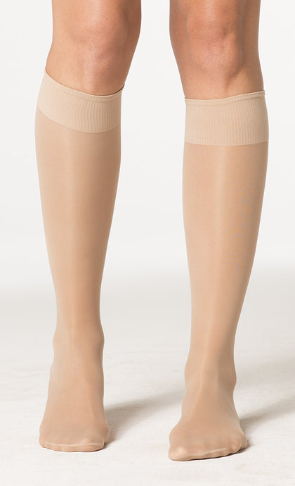 Sheer Fashion | Knee High Compression Stockings | Closed Toe | 15-20 mmHg