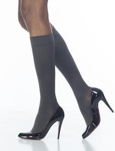 Soft Opaque | Calf High Compression Stockings | Open Toe | 15-20 mmHg