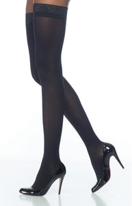 Soft Opaque | Thigh High Compression Stockings | Open Toe | 20-30 mmHg