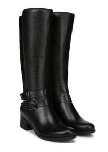 Black women's tall waterproof boot