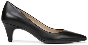 women's black low dress heel