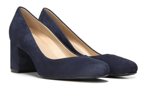 Naturalizer Whitney Navy Suede Heels