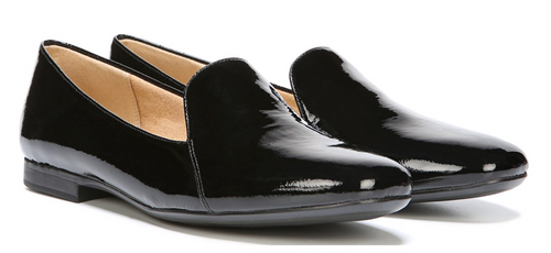 women's loafer black patent leather