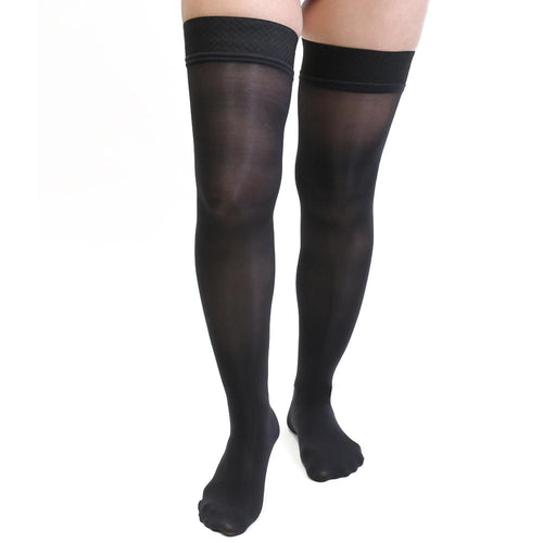 Salvere Simply Sheer, Thigh High, Closed Toe, 15-20 mmHg