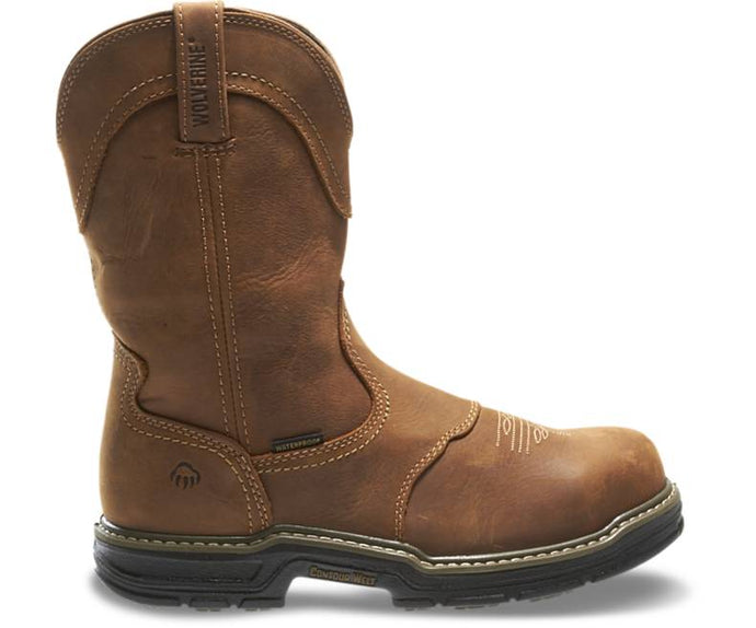 Waterproof steel toe work boot