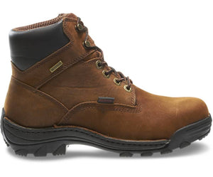 "WOLVERINE DURBIN BROWN WATERPROOF 6"" WORK BOOT"