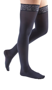 mediven comfort, 30-40 mmHg, Thigh High w/ Lace Top-Band, Closed Toe