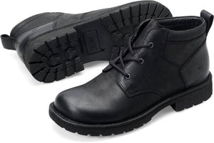 men's waterproof black work boot