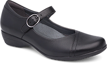 dansko dressy and casual mary jane in black and navy