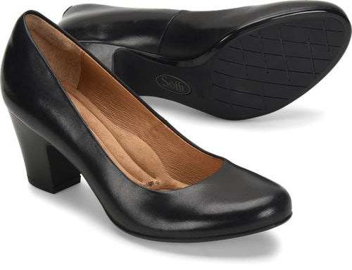 Sofft Myka Black Leather Shoes