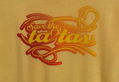 Save the Tatas Yellow T-Shirt