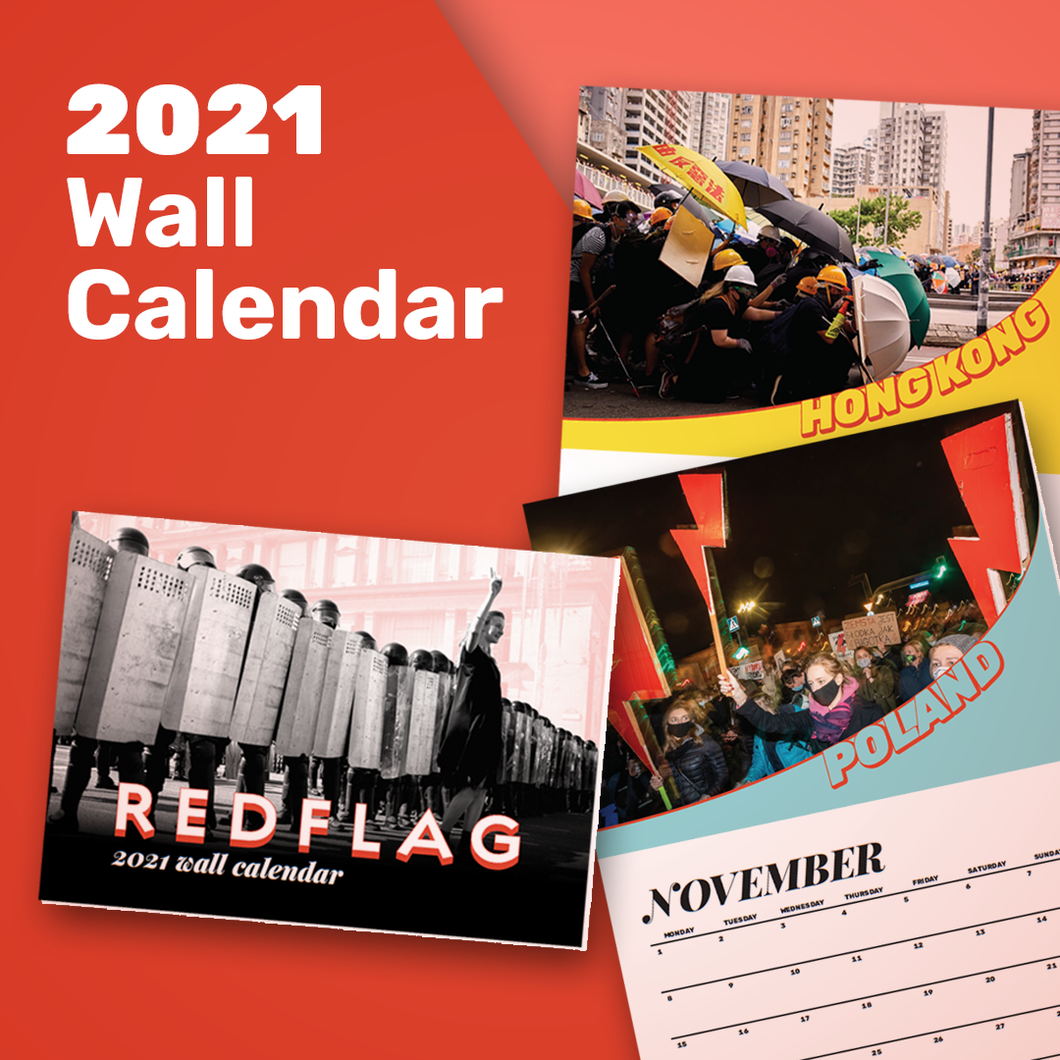 Red Flag 2021 Wall Calendar