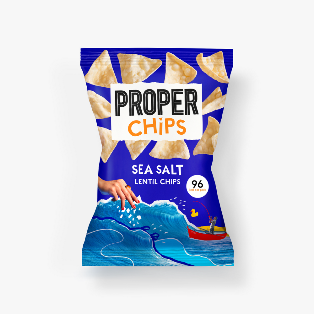 Load image into Gallery viewer, Properchips Salted Lentil Chips (20g)